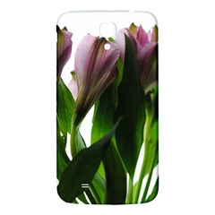 Pink Flowers on White Samsung Galaxy Mega I9200 Hardshell Back Case