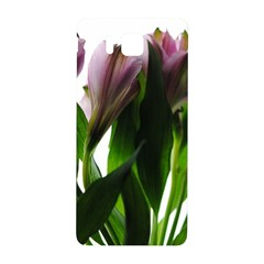 Pink Flowers on White Samsung Galaxy Alpha Hardshell Back Case