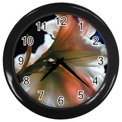 Amaryllis In The Light Wall Clock (black)