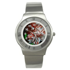 Amaryllis Double Bloom Stainless Steel Watch (slim)