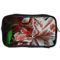 Amaryllis Double Bloom Travel Toiletry Bag (two Sides)