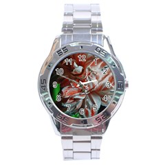Amaryllis Double Bloom Stainless Steel Watch