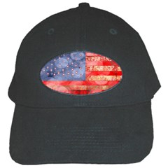 Distressed American Flag Black Baseball Cap