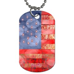Distressed American Flag Dog Tag (one Sided)