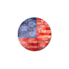 Distressed American Flag Golf Ball Marker 10 Pack
