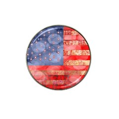 Distressed American Flag Golf Ball Marker 10 Pack (for Hat Clip)