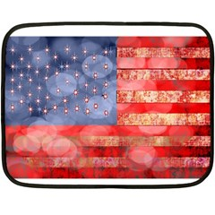 Distressed American Flag Mini Fleece Blanket (two Sided)