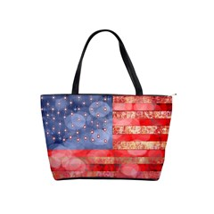 Distressed American Flag Large Shoulder Bag