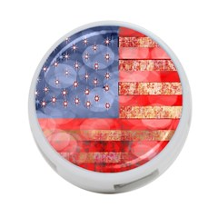 Distressed American Flag 4 Port Usb Hub (one Side)