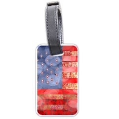 Distressed American Flag Luggage Tag (one Side)