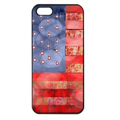 Distressed American Flag Apple Iphone 5 Seamless Case (black)
