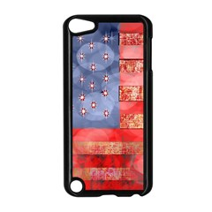Distressed American Flag Apple iPod Touch 5 Case (Black)