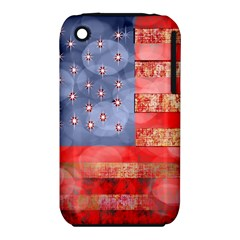 Distressed American Flag Apple iPhone 3G/3GS Hardshell Case (PC+Silicone)
