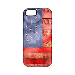 Distressed American Flag Apple Iphone 5 Classic Hardshell Case (pc+silicone)