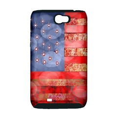 Distressed American Flag Samsung Galaxy Note 2 Hardshell Case (PC+Silicone)
