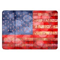 Distressed American Flag Samsung Galaxy Tab 8.9  P7300 Flip Case