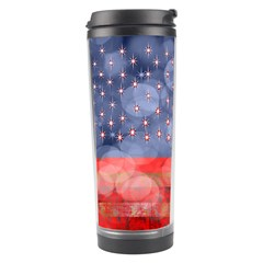 Distressed American Flag Travel Tumbler