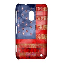Distressed American Flag Nokia Lumia 620 Hardshell Case