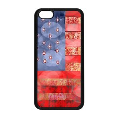 Distressed American Flag Apple iPhone 5C Seamless Case (Black)