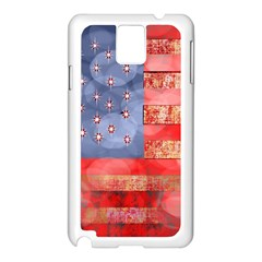 Distressed American Flag Samsung Galaxy Note 3 N9005 Case (white)