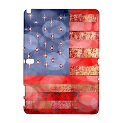 Distressed American Flag Samsung Galaxy Note 10.1 (P600) Hardshell Case