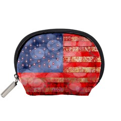 Distressed American Flag Accessory Pouch (Small)