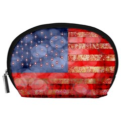 Distressed American Flag Accessory Pouch (Large)