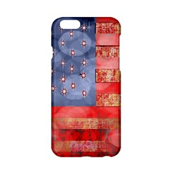 Distressed American Flag Apple iPhone 6 Hardshell Case