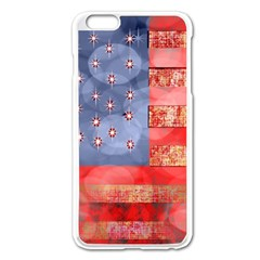 Distressed American Flag Apple Iphone 6 Plus Enamel White Case