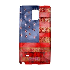 Distressed American Flag Samsung Galaxy Note 4 Hardshell Case