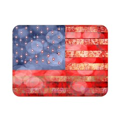 Distressed American Flag Double Sided Flano Blanket (Mini)