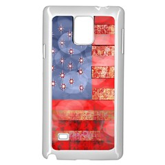 Distressed American Flag Samsung Galaxy Note 4 Case (White)