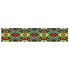 Colorful Tribal Geometric Pattern Flano Scarf (Small)