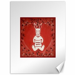 Cute Bunny Happy Easter Drawing Illustration Design Canvas 36  X 48  (unframed)