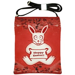 Cute Bunny Happy Easter Drawing Illustration Design Shoulder Sling Bag