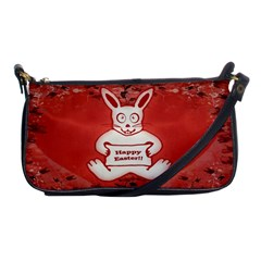 Cute Bunny Happy Easter Drawing Illustration Design Evening Bag