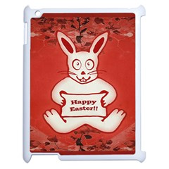 Cute Bunny Happy Easter Drawing Illustration Design Apple Ipad 2 Case (white)