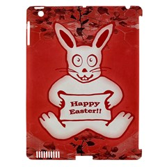 Cute Bunny Happy Easter Drawing Illustration Design Apple Ipad 3/4 Hardshell Case (compatible With Smart Cover)