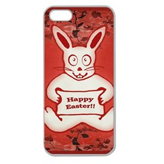 Cute Bunny Happy Easter Drawing Illustration Design Apple Seamless Iphone 5 Case (clear)