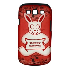 Cute Bunny Happy Easter Drawing Illustration Design Samsung Galaxy S Iii Classic Hardshell Case (pc+silicone)