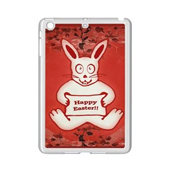 Cute Bunny Happy Easter Drawing Illustration Design Apple iPad Mini 2 Case (White)