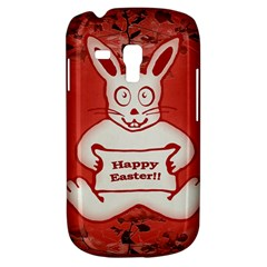 Cute Bunny Happy Easter Drawing Illustration Design Samsung Galaxy S3 Mini I8190 Hardshell Case