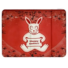 Cute Bunny Happy Easter Drawing Illustration Design Samsung Galaxy Tab 7  P1000 Flip Case