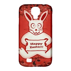 Cute Bunny Happy Easter Drawing Illustration Design Samsung Galaxy S4 Classic Hardshell Case (pc+silicone)