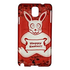Cute Bunny Happy Easter Drawing Illustration Design Samsung Galaxy Note 3 N9005 Hardshell Case