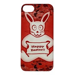 Cute Bunny Happy Easter Drawing Illustration Design Apple Iphone 5s Hardshell Case
