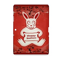 Cute Bunny Happy Easter Drawing Illustration Design Samsung Galaxy Tab 2 (10.1 ) P5100 Hardshell Case