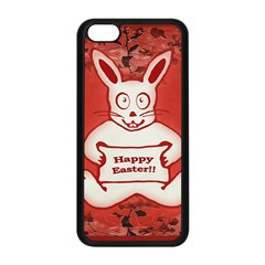 Cute Bunny Happy Easter Drawing Illustration Design Apple Iphone 5c Seamless Case (black)