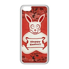 Cute Bunny Happy Easter Drawing Illustration Design Apple iPhone 5C Seamless Case (White)