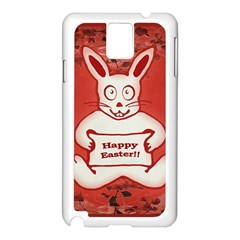 Cute Bunny Happy Easter Drawing Illustration Design Samsung Galaxy Note 3 N9005 Case (white)